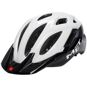MET Crossover - Casco de bicicleta - blanco/negro